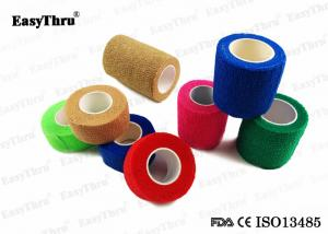 China Colorful Self Adhesive Elastic Bandage , Breathable Comfortable Medical Bandage Wrap on sale