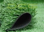 C Shaped Synthetic Fake Grass Carpet , Outdoor Soccer Turf 50 Mm Pile Height