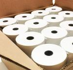 White Color Credit Card Machine Paper Rolls , Pos Terminal Paper Rolls 48gsm 50gsm 55gsm