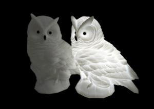 China Cute Mini Pure / Warm White Owl LED Night Light Soft PVC Material For Party Gift on sale