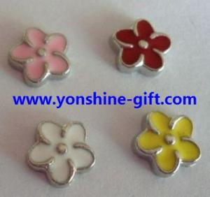China Colorful Flower Floating Loacket Charms Italian Charms For DIY Floating Lockets Accessories From YonShine-Gift.com on sale