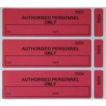 Polyester VOID Tamper Evident Sealing Labels with Red Yellow Black Blue White Gray colors