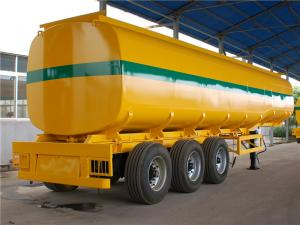 China Oil Tanker Truck Trailer 3 Axle 45000 L 50M3 50cbm Carbon Steel Fuel Tanker Semi Trailer on sale