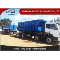Tipper Draw Bar Trailer  For Agricultural Goods , Dumping TrailersWith Tow Bar