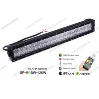 Bluetooth Controlled Color Changing LED Light Bar , 21.5 Inch 120W RGB LED Light Bar