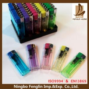 China Personalized Transparent Flame Refillable Cigarette Lighter For Mens on sale