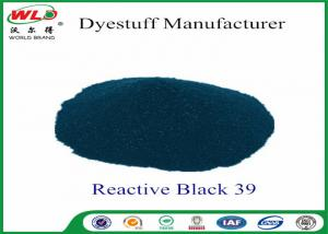 China Eco Friendly Cotton Fabric Powder Tie Dye Reactive Black 39 High Stability on sale