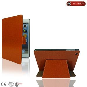 China 7.9inch Stand Ipad Mini Shockproof Leather Covers Customized , Brown on sale