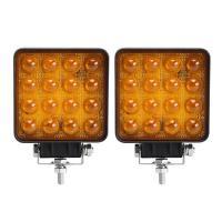 48W 4D LED Vehicle Work Light Flood/Spot 12~48 V DC Square Off-Road Bulb Lamp