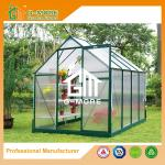 Multifunctional Green Color Aluminum PC Greenhouse - 286x216x220CM