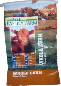 China PP Woven Laminated Animal Feed Bags , 15kg Empty Feed Bags Double Stitched on sale