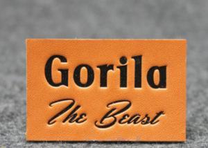 China Etiquetas de couro do remendo das calças de brim adesivas duráveis, remendos de ombro de couro feitos sob encomenda on sale