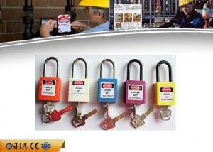 China 38 Mm Shackle Safety Lockout Padlocks , ABS Material Safety Padlock on sale