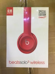 China Beats By Dr Dre Wireless Headphones Beats Solo3 - Red Brand New and Sealed on sale