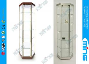 China Shopping Mall Glass Display Showcases / Hexagonal Tower Case on sale