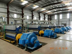 China Generador diesel refrigerado por agua de encargo 11KV 750Rpm de la central eléctrica de Genset on sale