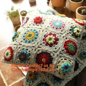 China High Quality Nordic Crochet bed pillow Daisy hand-woven cushion covers Decorative Cushion on sale