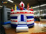 4m Round Portable Vinyl Kids Inflatable Birthday Cake Party Jumping Bouncers For Rental