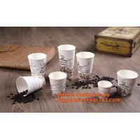 Food use disposable plastic paper cup and coffee lids, pla cups,biodegradable paper cups with lids,100% compostable pape