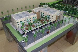 China Amercial Long Beach Garden Architectural Model Making , 3d miniature building model on sale