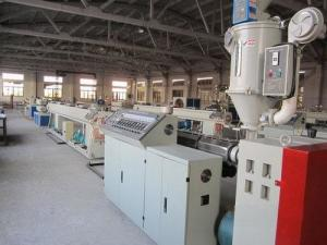 China SJ 65 PVC Pipe Extrusion Line, 20 - 63mm Diameter Plastic Pipe Production Line on sale