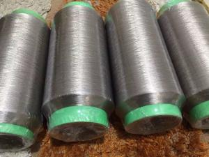 China silver coated nylon yarn, fabric for antibacterial, anti electromagnetic radiation on sale