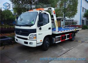 China White Single Cab Foton Auman 5T Truck Blue Platform Car Carrier LHD on sale