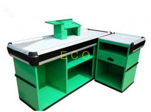 China Custom Green Cashier Checkout Display Counter For Retail Store / Supermarket on sale