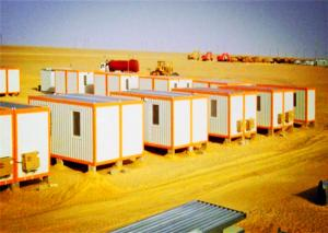 China Yellow Colour Portable Container House Glass Wool With Single Side Aluminum Foil on sale