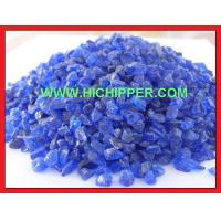 China Terrazzo Glass cobalt blue crushed glass chips on sale