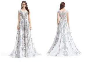 China Floor Length Beaded Sexy Prom Dresses , Vintage Sleeveless Ball Gown Prom Dresses on sale
