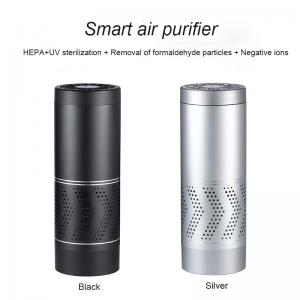 China portable USB 13Grade Hepa carbon filter car air purifier on sale