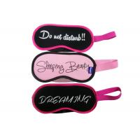 China Customized Big Size Art Words Sleeping Blindfold Eyemasks Polar Fleece And Satin Material For Trip on sale