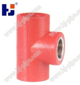 China Plastic pipe fittings PPR reducer female thread tee on sale
