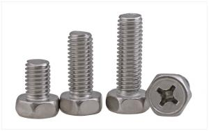 China Stainless Steel Phillips Drive Hex Head Screws  Stainless Steel Hex Bolts with Phillips Drive on sale