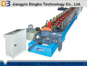 China Colored Steel Roller Shutter Door Roll Forming Machine With Chain Transmission on sale