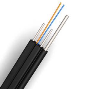 China Anti UV FTTH Aerial Drop Cable , Soft Flexible Fiber Optic Ethernet Cable on sale