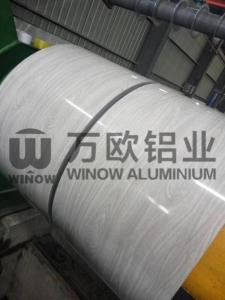 China PVDF Paint Wood Pattern Colored Aluminum Foil / Aluminum Sheet Coil ISO9001 on sale