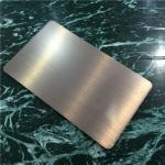 Light Weight Brushed Aluminum Composite Panel For Building Decoration 1220mm Width