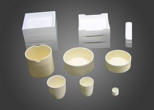 China Industrial Corundum Mullite , 95 % / 99 % High Alumina Crucible With Lid on sale