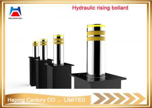 China Full-automatic led lighted security hydraulic rising bollards on sale