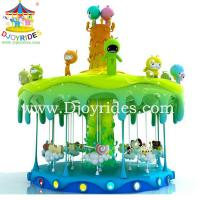 Children indoor music carousel amusement rides manufacture