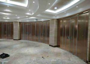 China Top Hung Sliding Partition Wall Hpl Finish , Sliding Door Divider 100mm Thickness on sale