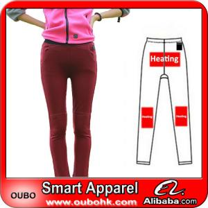China Fashion Women Leggings With Battery Heating System Electric Heating Clothing Warm OUBOHK on sale