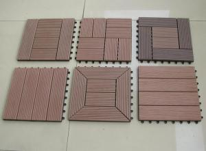 China Anti - slip Embossing WPC DIY Deck Tiles 30 x 30cm For Swimming Pool on sale