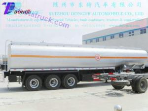 China DTA9401GRY ethanol alcohol Flammable liquid tank trailer on sale