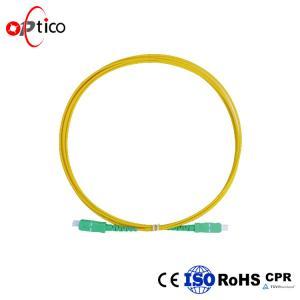 China 1m 3ft Simplex Fiber Optic Patch Cord SC APC to SC APC  9/125 Single Mode 2.0mm on sale