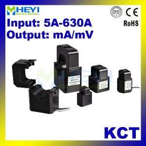 China HEYI high accuracy clip on current transformer KCT 5-630A 6mm 10mm 16mm 24mm 36mm inner hole split cts on sale
