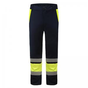 China Double Stitched Acid Resistant Clothing , 50mm Fr Tape Acid Resistant Work Pants on sale