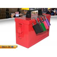 China Safety Lockout Station For Locks, Black Plastic Shackle Lock Out Box on sale